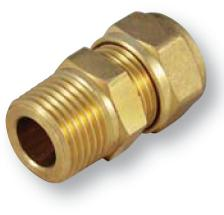Brass Straight Connector CC to BSP